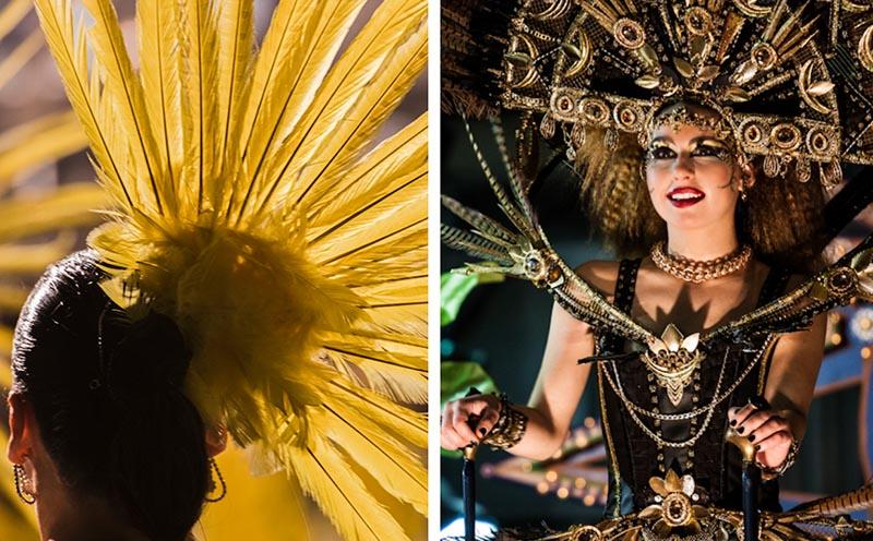 carnaval aguilas trajes noche