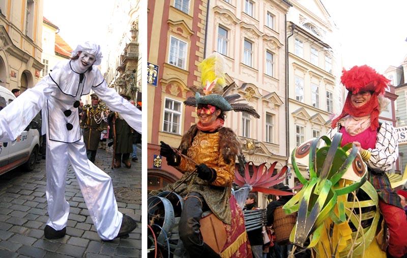 prague carnival women horses