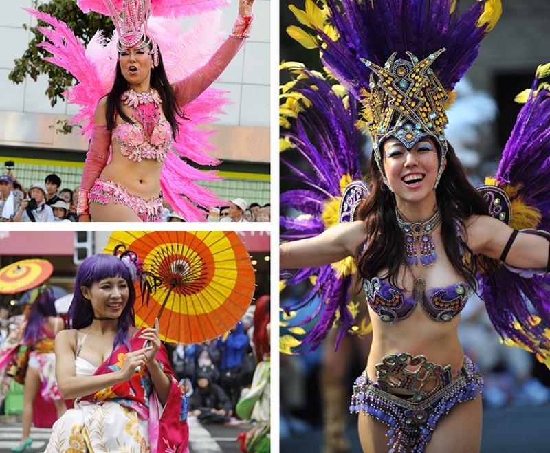 carnaval samba asakusa trajes y japoneses de videojuegos