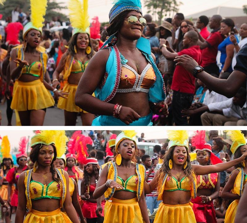 carnaval de calabar divirtiéndose bailando