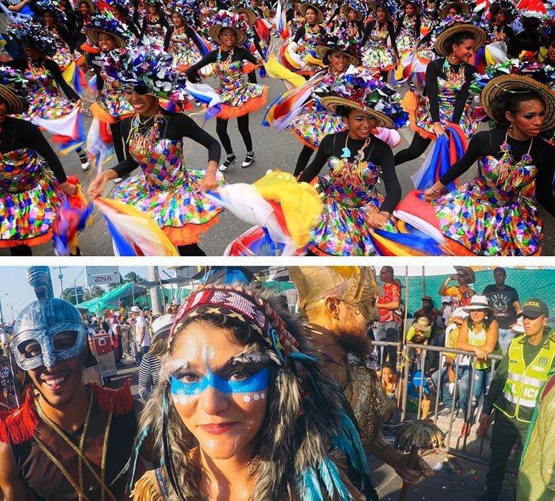 Carnaval de barranquilla y sus bailarinas