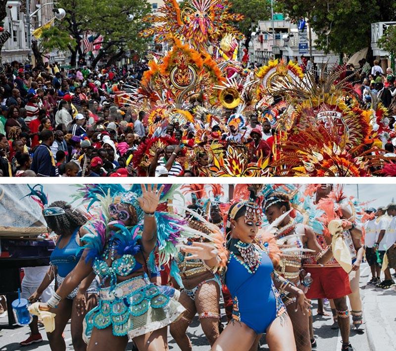 Junkanoo Carnival Crowd parade