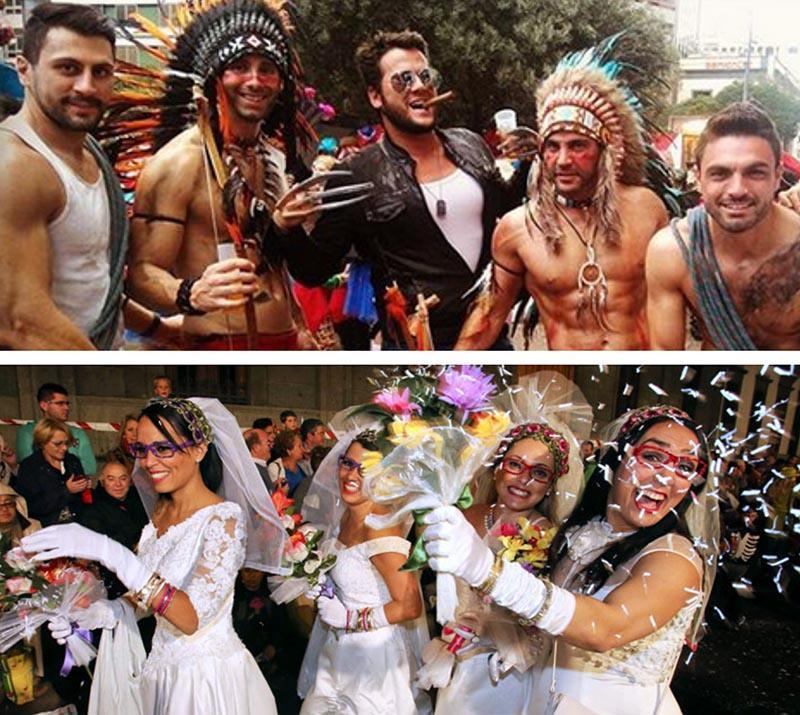 tenerife carnival men women dresses carnival
